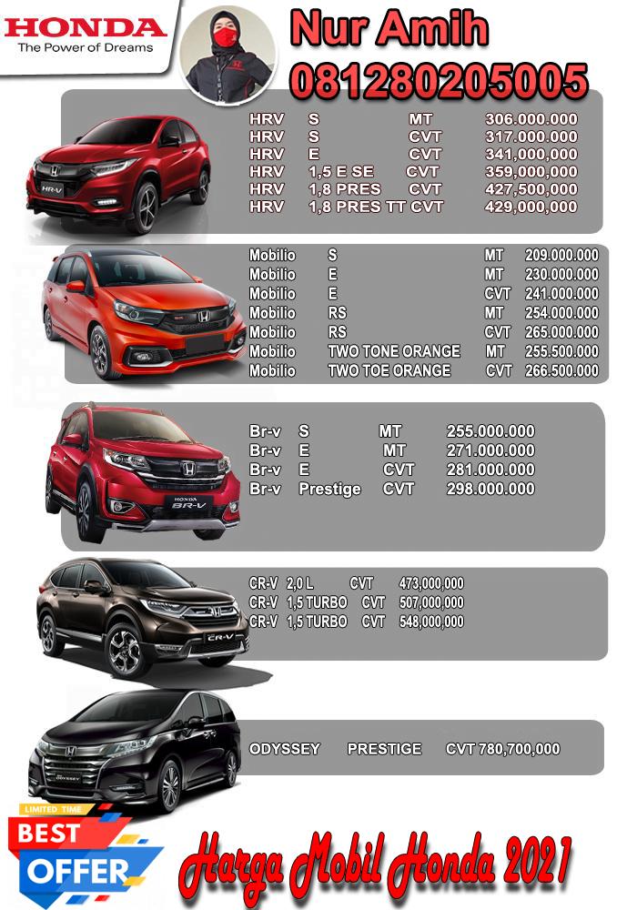 Harga Honda Jakarta Timur